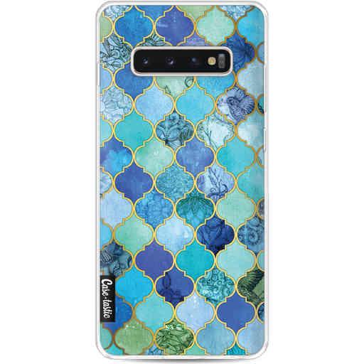 Casetastic Softcover Samsung Galaxy S10 Plus - Aqua Moroccan Tiles
