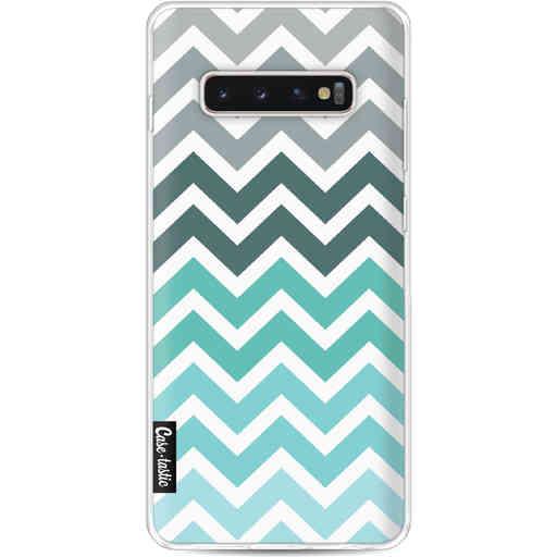 Casetastic Softcover Samsung Galaxy S10 Plus - Tiffany Fade Chevron