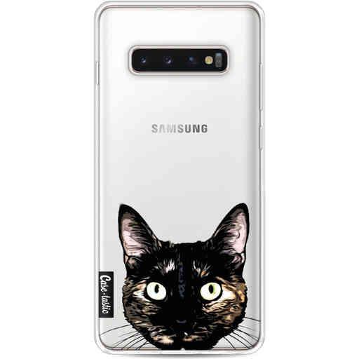 Casetastic Softcover Samsung Galaxy S10 Plus - Peeking Kitty