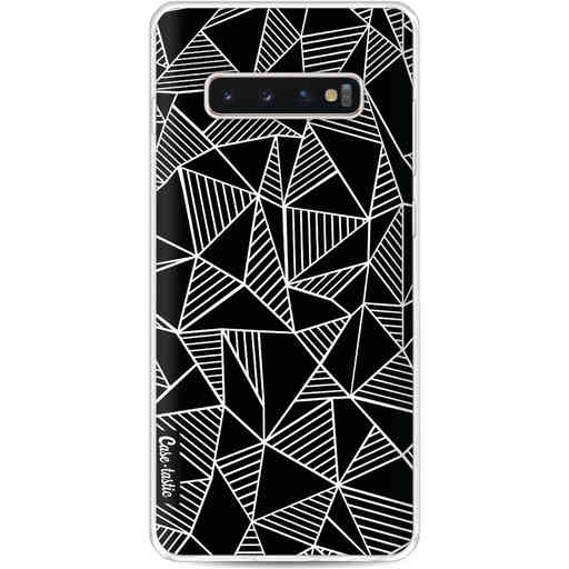 Casetastic Softcover Samsung Galaxy S10 Plus - Abstraction Lines Black