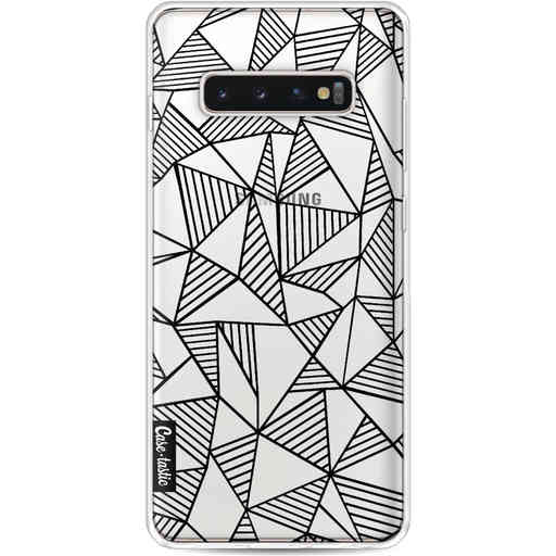 Casetastic Softcover Samsung Galaxy S10 Plus - Abstraction Lines Black Transparent