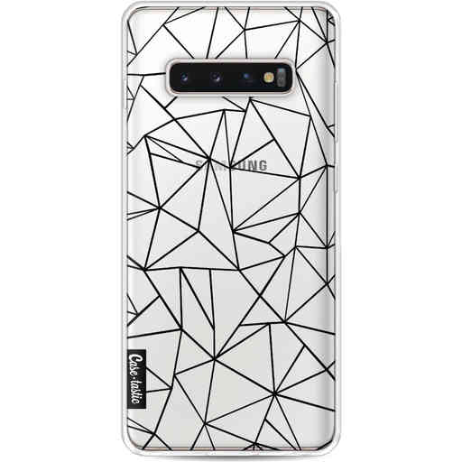 Casetastic Softcover Samsung Galaxy S10 Plus - Abstraction Outline Black Transparent