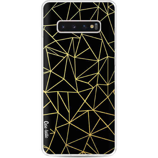 Casetastic Softcover Samsung Galaxy S10 Plus - Abstraction Outline Gold