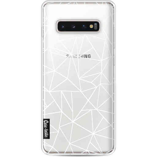 Casetastic Softcover Samsung Galaxy S10 Plus - Abstraction Outline White Transparent