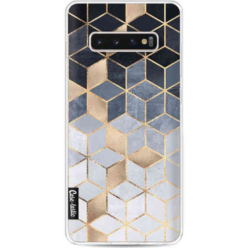 Casetastic Softcover Samsung Galaxy S10 Plus - Soft Blue Gradient Cubes