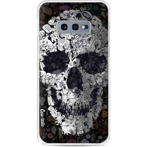 Casetastic Softcover Samsung Galaxy S10e - Doodle Skull BW