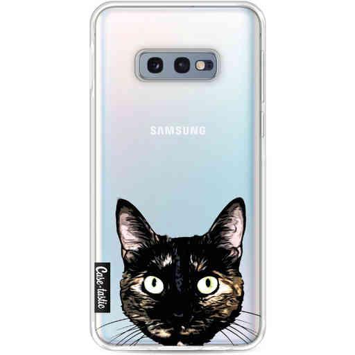 Casetastic Softcover Samsung Galaxy S10e - Peeking Kitty