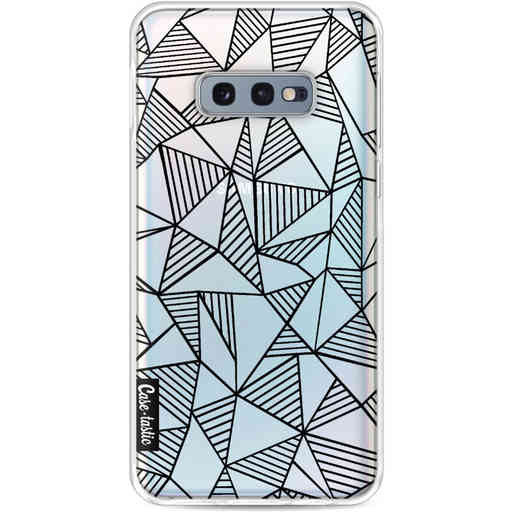 Casetastic Softcover Samsung Galaxy S10e - Abstraction Lines Black Transparent