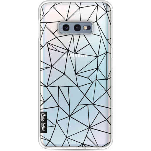 Casetastic Softcover Samsung Galaxy S10e - Abstraction Outline Black Transparent