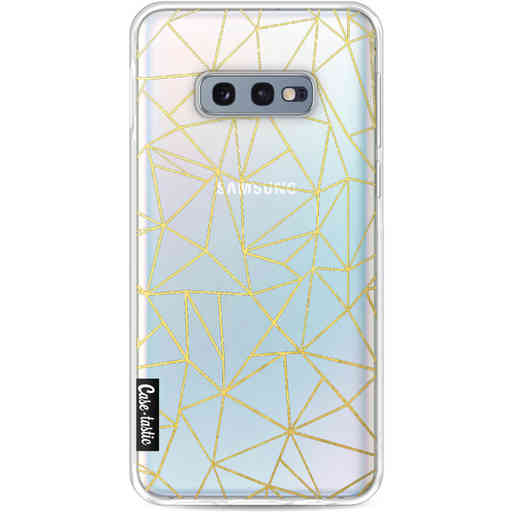 Casetastic Softcover Samsung Galaxy S10e - Abstraction Outline Gold Transparent