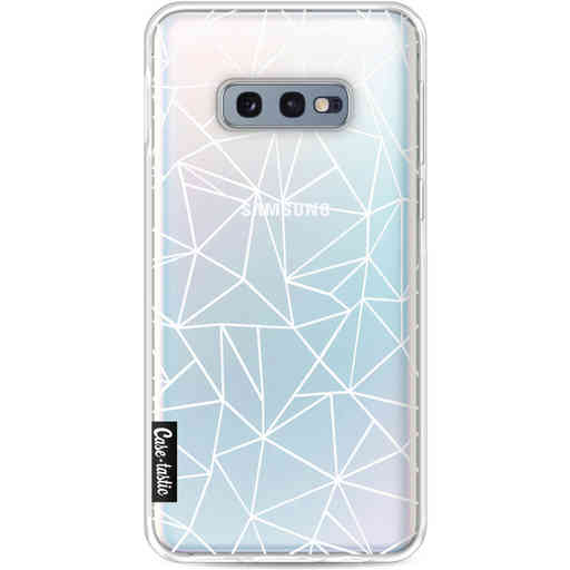 Casetastic Softcover Samsung Galaxy S10e - Abstraction Outline White Transparent