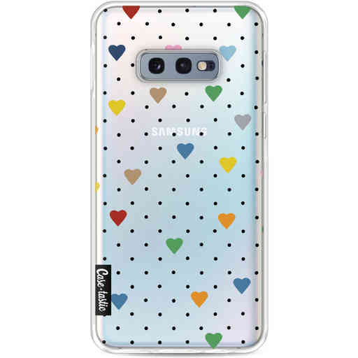 Casetastic Softcover Samsung Galaxy S10e - Pin Point Hearts Transparent