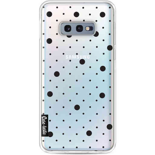 Casetastic Softcover Samsung Galaxy S10e - Pin Points Polka Black Transparent