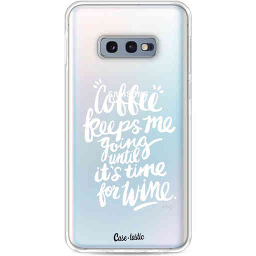 Casetastic Softcover Samsung Galaxy S10e - Coffee Wine White Transparent