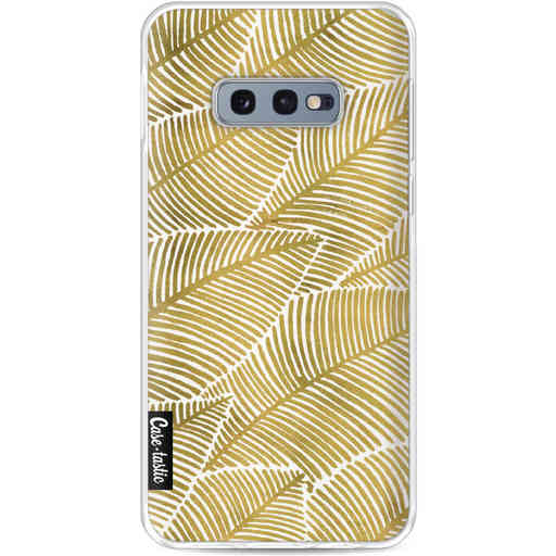 Casetastic Softcover Samsung Galaxy S10e - Tropical Leaves Gold