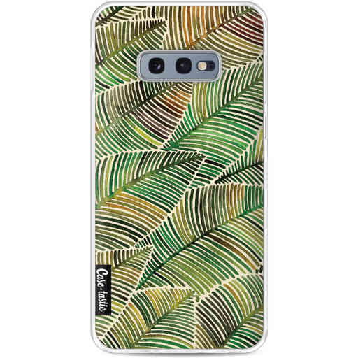 Casetastic Softcover Samsung Galaxy S10e - Tropical Leaves Yellow