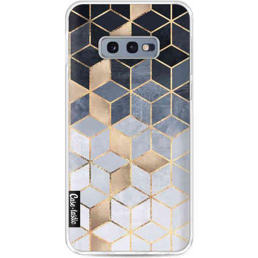 Casetastic Softcover Samsung Galaxy S10e - Soft Blue Gradient Cubes