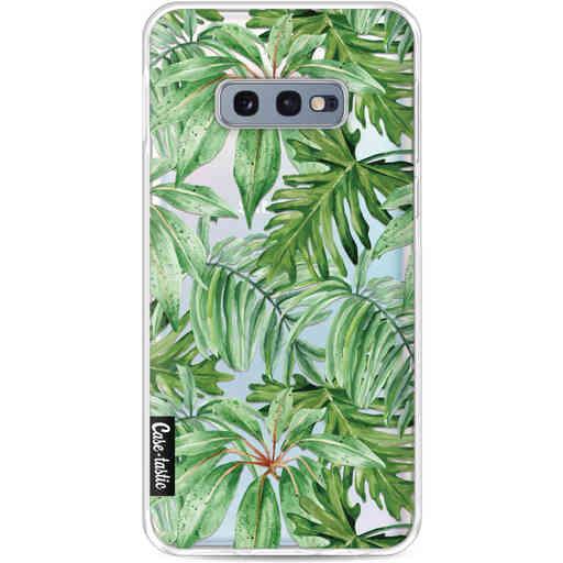 Casetastic Softcover Samsung Galaxy S10e - Transparent Leaves