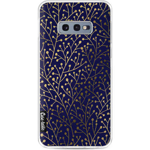 Casetastic Softcover Samsung Galaxy S10e - Berry Branches Navy Gold