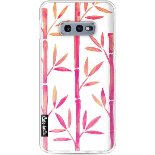 Casetastic Softcover Samsung Galaxy S10e - Pink Bamboo Pattern
