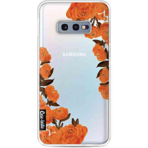 Casetastic Softcover Samsung Galaxy S10e - Orange Autumn Flowers