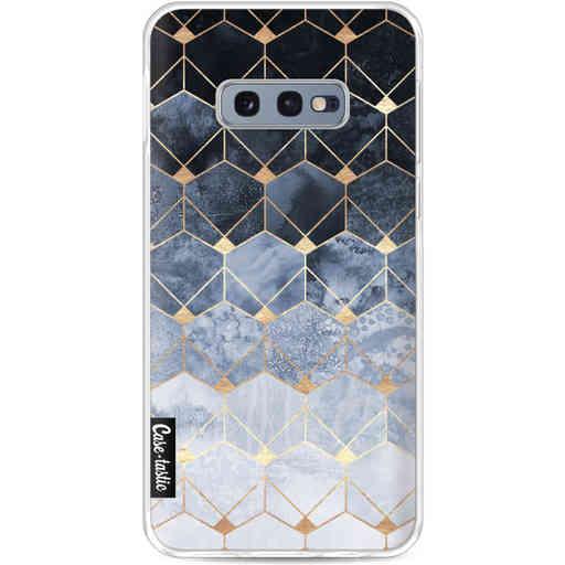 Casetastic Softcover Samsung Galaxy S10e - Blue Hexagon Diamonds