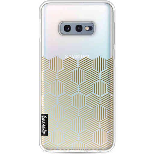 Casetastic Softcover Samsung Galaxy S10e - Golden Hexagons