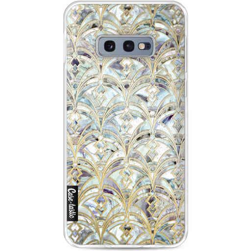Casetastic Softcover Samsung Galaxy S10e - Mint Art Deco Marbling