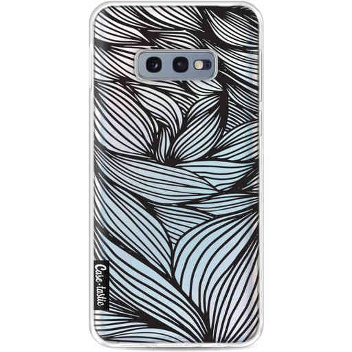 Casetastic Softcover Samsung Galaxy S10e - Wavy Outlines Black