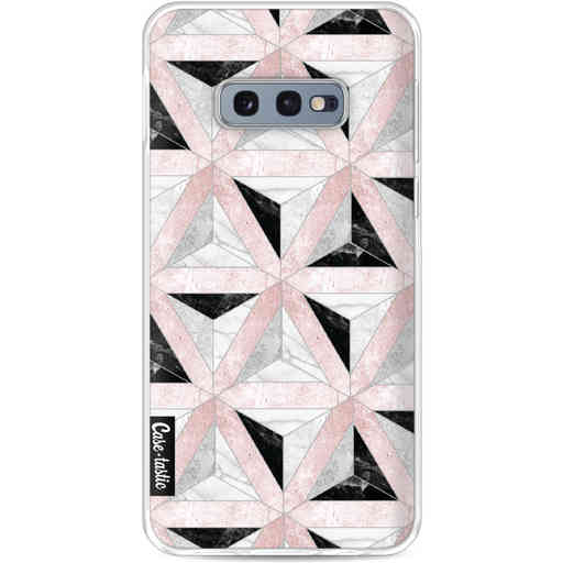 Casetastic Softcover Samsung Galaxy S10e - Marble Triangle Blocks Pink