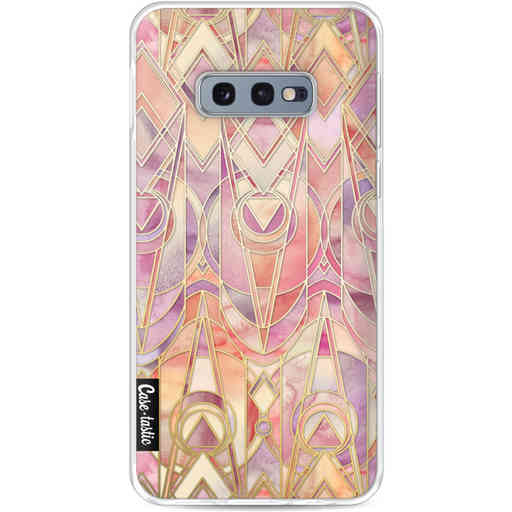 Casetastic Softcover Samsung Galaxy S10e - Coral and Amethyst Art