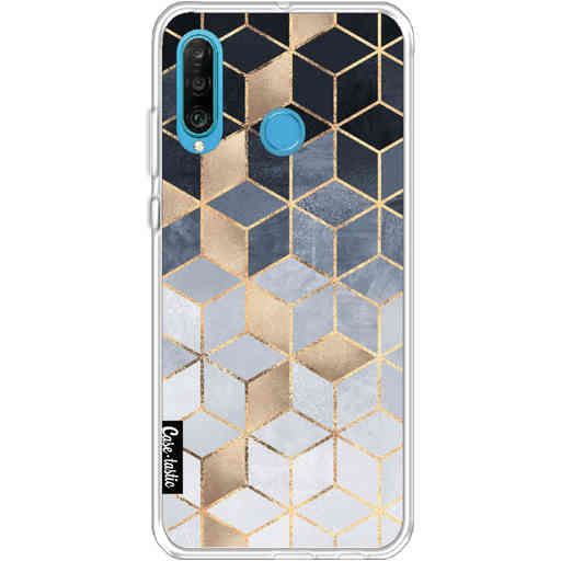 Casetastic Softcover Huawei P30 Lite - Soft Blue Gradient Cubes