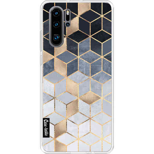 Casetastic Softcover Huawei P30 PRO - Soft Blue Gradient Cubes