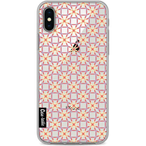 Casetastic Softcover Apple iPhone X / XS - Geometric Lines Sweet