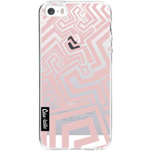 Casetastic Softcover Apple iPhone 5 / 5s / SE - Abstract Pink Wave
