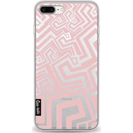 Casetastic Softcover Apple iPhone 7 Plus / 8 Plus - Abstract Pink Wave