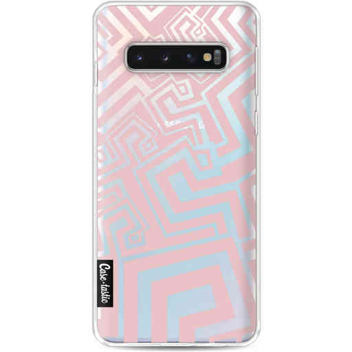 Casetastic Softcover Samsung Galaxy S10 - Abstract Pink Wave