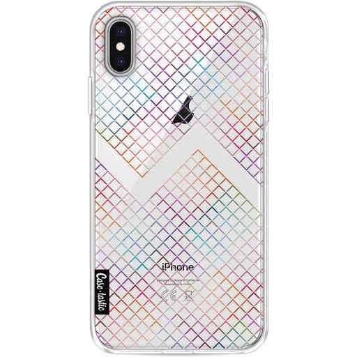 Casetastic Softcover Apple iPhone XS Max - Rainbow Squares