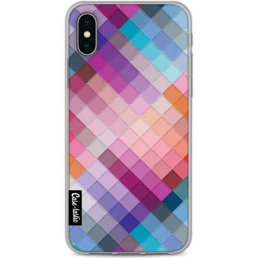 Casetastic Softcover Apple iPhone X / XS - Seamless Cubes