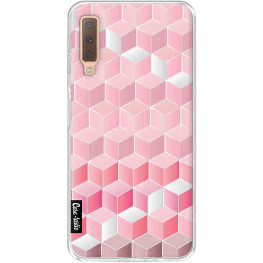 Casetastic Softcover Samsung Galaxy A7 (2018) - Cubes Vibe