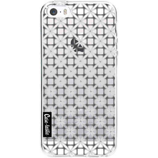 Casetastic Softcover Apple iPhone 5 / 5s / SE - Geometric Lines Silver