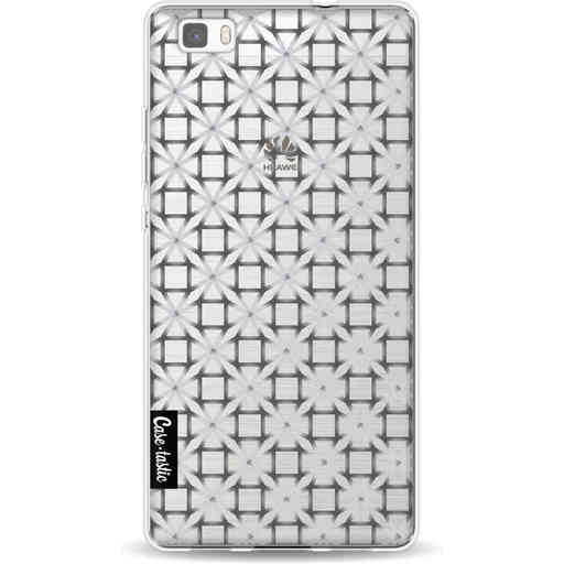 Casetastic Softcover Huawei P8 Lite (2015) - Geometric Lines Silver