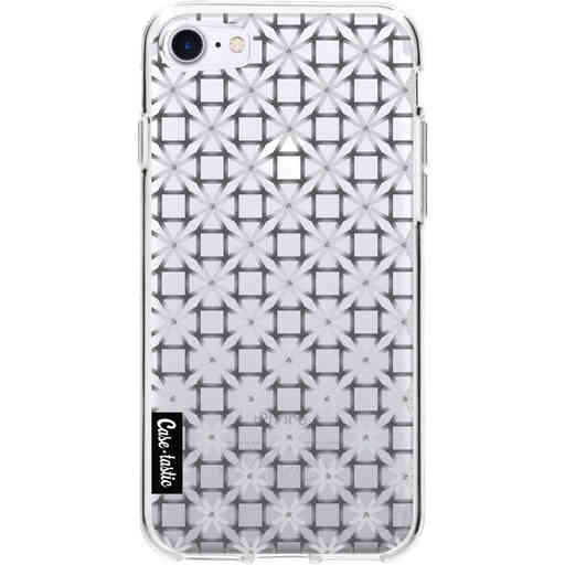 Casetastic Softcover Apple iPhone 7 / 8 / SE (2020) - Geometric Lines Silver