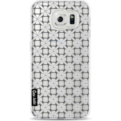 Casetastic Softcover Samsung Galaxy S6 - Geometric Lines Silver