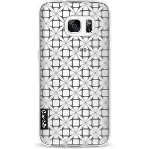 Casetastic Softcover Samsung Galaxy S7 - Geometric Lines Silver