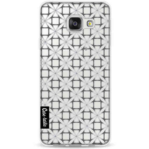 Casetastic Softcover Samsung Galaxy A3 (2016) - Geometric Lines Silver