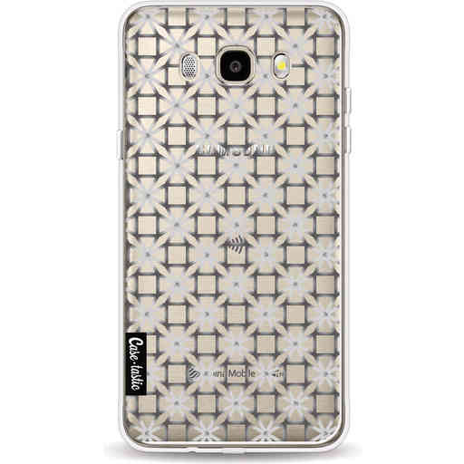 Casetastic Softcover Samsung Galaxy J5 (2016) - Geometric Lines Silver