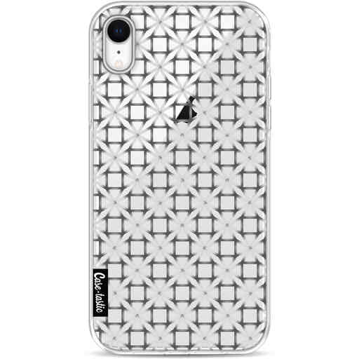 Casetastic Softcover Apple iPhone XR - Geometric Lines Silver