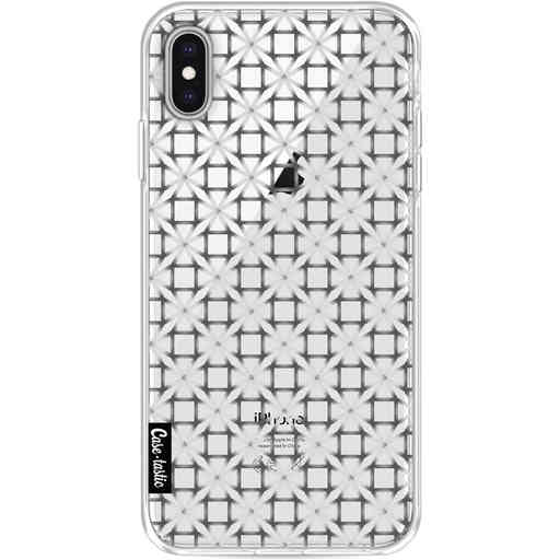 Casetastic Softcover Apple iPhone XS Max - Geometric Lines Silver
