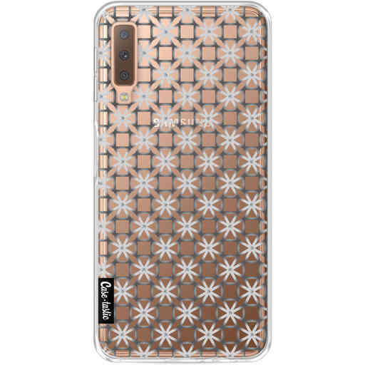 Casetastic Softcover Samsung Galaxy A7 (2018) - Geometric Lines Silver